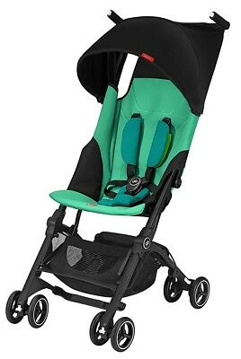 GB Pockit+ Lightweight Ultra Compact Fold Baby Travel Stroller Laguna Blue NEW
