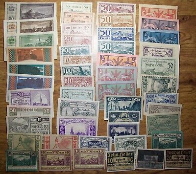 Austria, Notgeld, 50 Different Notes, Mostly Unc. With Some Aunc. (9)