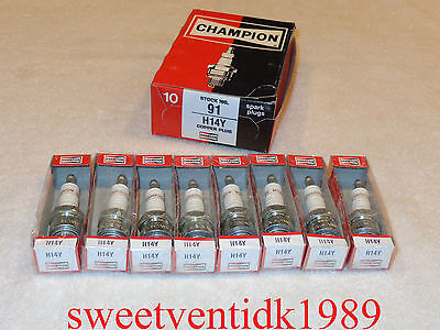 'NOS' Champion H-14Y Spark Plugs...1950 - 60's...Studebaker, Am. Motors...etc..