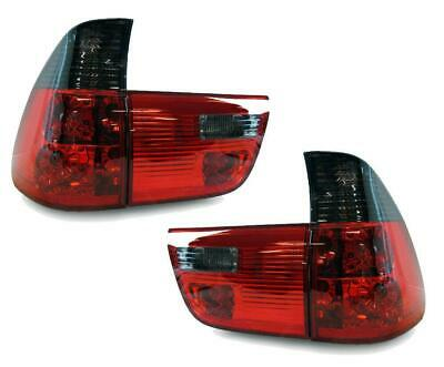 Back Rear Tail Lights Lamps For BMW E53 X5 00-06 In Red Smoke Crystal-Look