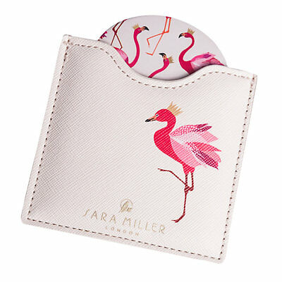 Sara Miller Flamingo Compact Mirror Classic Fashion Portable Pocket Cosmetic