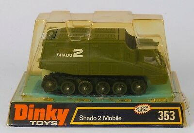 Dinky 353 Shado 2 Mobile. Rare Green/White Interior. VNMINT/Bubble Pack. 1970's