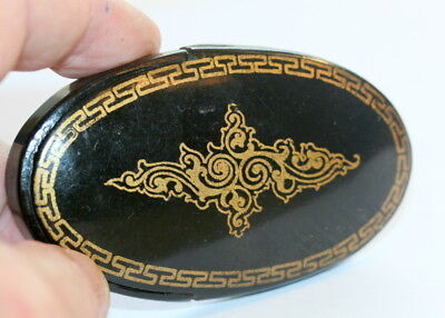 Papier Mache Spectacles Case Etui For Folding Pince Nez, Excellent Cond.