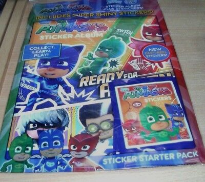 Topps PJ Masks Sticker Starter Pack: Album & 31 Stickers: Collect Learn Play
