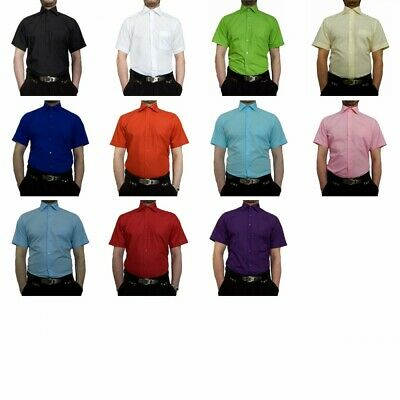 Wedding Men's Shirt short Sleeve Many Colours K11