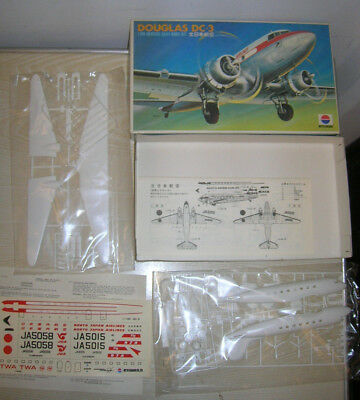 "VINTAGE - NITTO KAGAKU Douglas DC-3 ""Japan Airlines"" 1:100 - MINT in Box MIB"