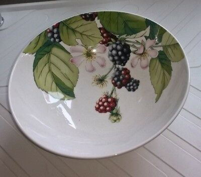 "Portmeirion Salad Bowl 'Eden Fruits' NEW 4"" high 10"" across"