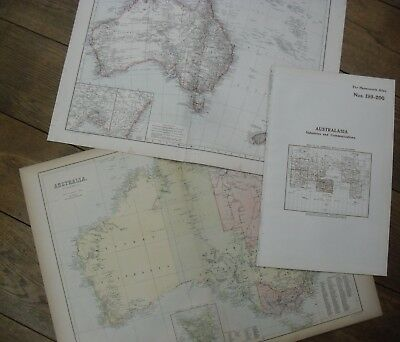 Small Collection of Antique Australia / Australasia Maps