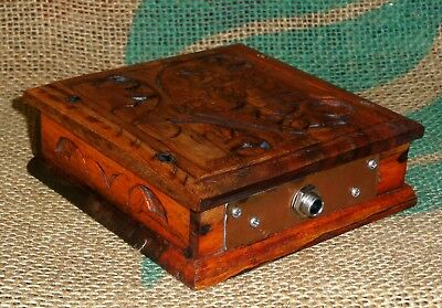 'old Tin Stomp Box'. Hand Made Stomp Box. From An Old Indian Rosewood Box.