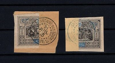 P63119/ OBOCK / TIMBRES COUPES / BISECTED STAMPS / MAURY # 54a OBL / USED