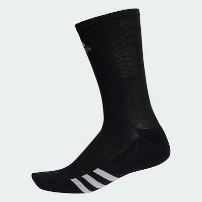 Adidas 2018 Single Pair Crew Mens Sports Gym Running Socks (Black)