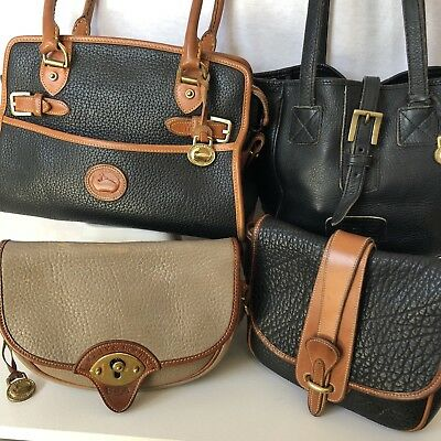 Dooney Bourke Bags 4 Vintage All Weather Pebbled Leather Parts or Repair USA
