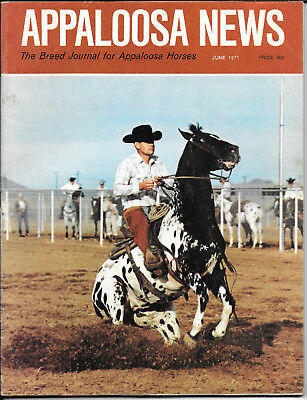 Appaloosa News Horse Magazine June 1971 Equine Breed Journal