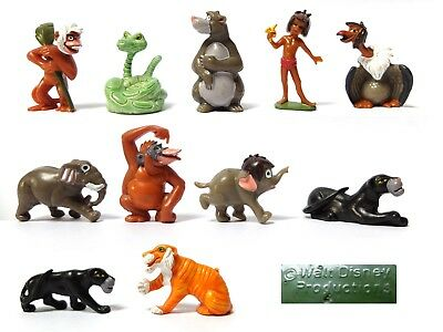 11 DISNEY 4cm JUNGLE BOOK FIGURES Ziggy Junior Mowgli Bagheera Baloo Louie Kaa +