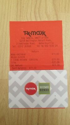 T.K.MAXX Gift Card - Value £11