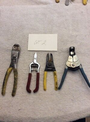 Wire Cutters Strippers Pliers Lot Clauss, Ideal Stripmaster Other Lot 2