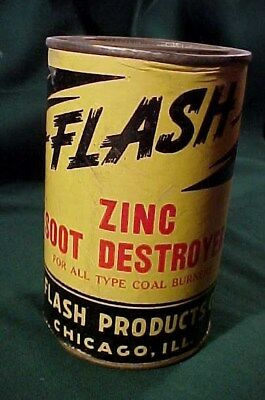 """Old Can """"Flash"""" Zinc Furnace Soot Destroyer , Flash Products, Chicago, Illinois"""