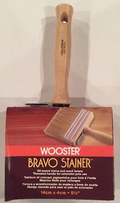 Wooster Brush F5116-5-1/2 Bravo Stainer Stain Brush, 5-1/2-Inch 071497145826