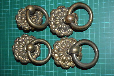 Set Of Four Antique Handles, Brass