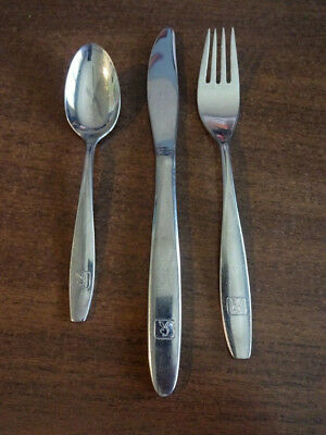 Vintage Set Of 3 Playboy Club Flatware Fork Spoon Knife Reed & Barton Stainless