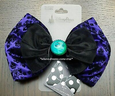 Disney Parks Haunted Mansion Madame Leota Interchangeable Bow Ears Swap Your Bow