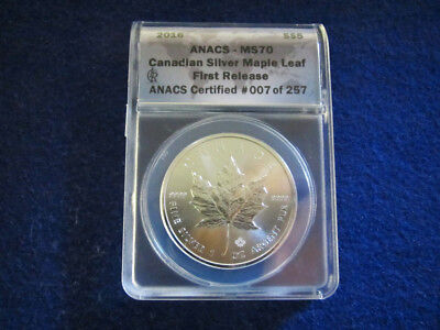 2016 Canada Silver Maple Leaf - Early Release - ANACS MS70 - Free U S Shipping