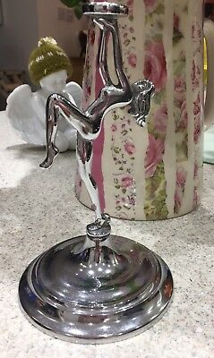 Deco Silver Plated/Chrome Lady Figurine From Cake Stand Or Similar