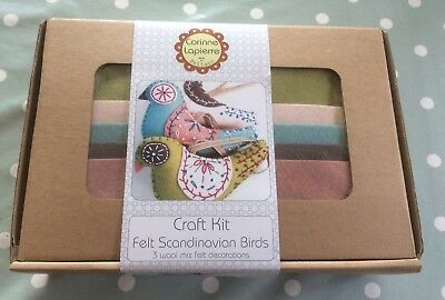 Brand New Corinne Lapierre Craft Kit Felt Scandinavian Birds