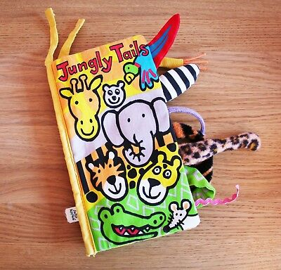 Jellycat - Jungly Tails Soft Book - Good Condition but no sound effects
