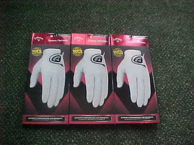 3 New Callaway Dawn Patrol Leather Golf Gloves Small, Right Handed Man