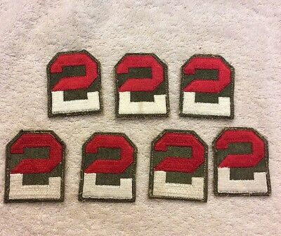 WWII Korea Era US Army 2nd Army Patchs Original Era Patch Lot Of 7