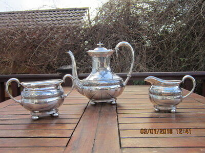 Vintage Tea / Coffee Set Silver Plated 3 Piece