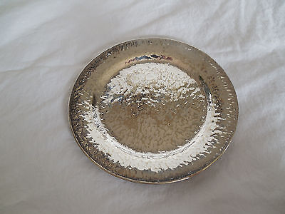 DSP co nickel silver hammered Sheffield reproductions tray, coaster