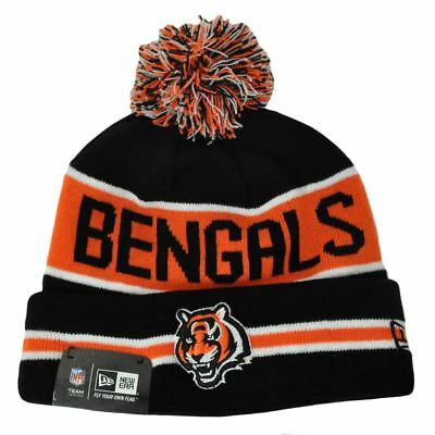 66b7b8e63 NFL New Era Cincinnati Bengals The Coach Cuffed Pom Pom Beanie Hat Knit  Toque