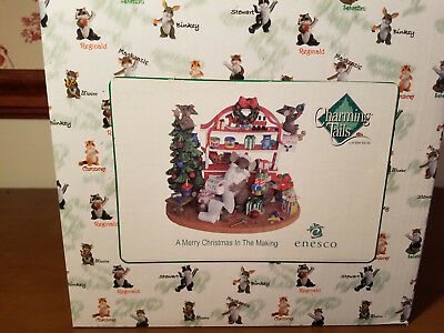 Charming Tails Nrfb Enesco A Merry Christmas In The Making Large Figurine