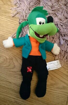 """Disney Store 8""""  Goofenstein Mickey Mouse Goofy Character Beanie Plush Soft Toy"""