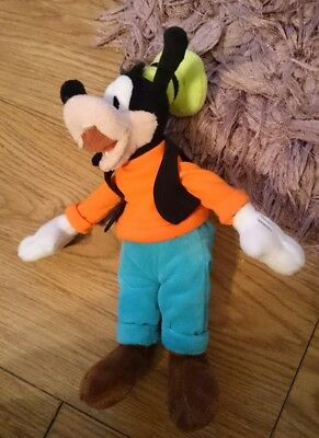 """Disney 8""""  Mickey Mouse Goofy Character Beanie Plush Soft Toy"""