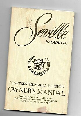 SEVILLE by CADILLAC 1980 Owner's Manual - 114 pages