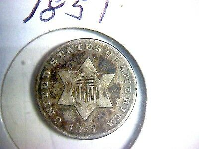 1851 Silver Three-Cent Piece (Trimes)