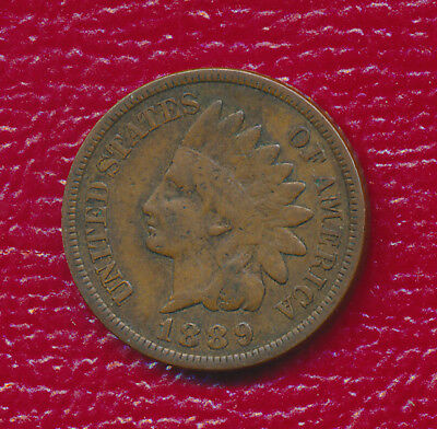 """1889 INDIAN HEAD CENT **FULL """"LIBERTY"""" VISIBLE** NICE LATE 19th CENTURY COIN!"""