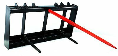 """Titan HD Frame, 49"""" Tractor Hay Spear & 2 Stabilizers Skid Steer 4000lb capacity"""