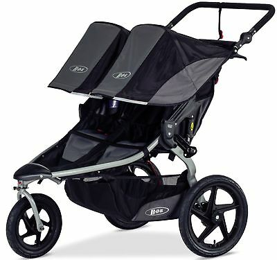 Bob Revolution Flex Duallie Twin Baby Double Jogger Jogging Stroller 2018 Black