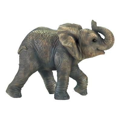 Happy Elephant Polyresin Figurine - Wild Animal Decor