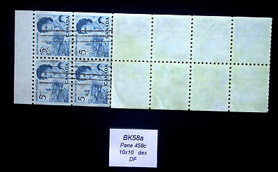 Cancelled Pane 458c from Centennial Booklet BK58 ~ 458 Stamps