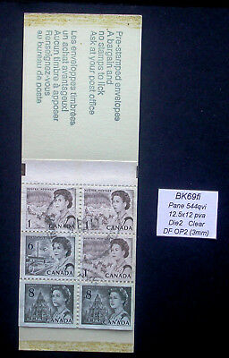 Cancelled Pane 544qvi from Centennial Booklet BK69fi ~ 454 460 544 Stamps