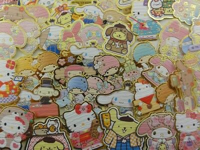 Sanrio 50 Hello Kitty My Melody Purin flake Little Twin Stars sticker cute lot