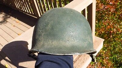 WW2 US Army Military M1 Helmet Sheel Steel Swivel Bale Front Seam
