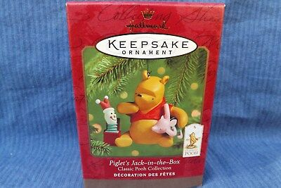 Hallmark Ornament 2000 Disney Winnie The Pooh Piglet Jack in the Box  NEW