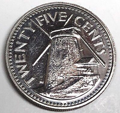 C5118      BARBADOS    COIN,     25  CENTS    1983   Proof