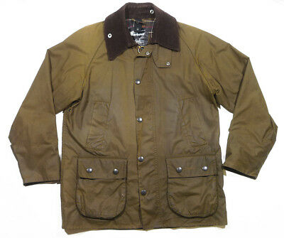 Barbour Classic Bedale Waxed cotton jacket Made in England C36/91CM S w/ Vest